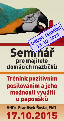 Seminář RNDr. Šusty se bude konat 17. 10.  v Průhonicích (okres Praha-západ)